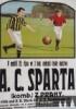 Plakát na zápas proti Spartě Praha dne 29.10.1911